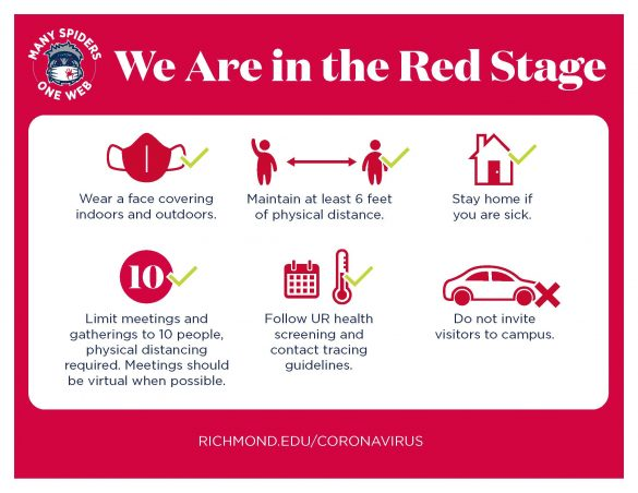 University of Richmond shares its guidelines for reopening campus and welcoming back students