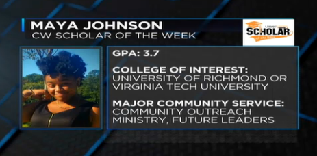 Scholar of the Week Maya Johnson